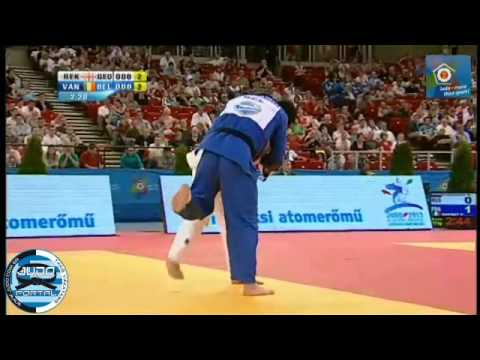 European Judo Championship Budapest 2013 Bronze -73kg REKHVIASHVILI (GEO) - VAN TICHELT (BEL)