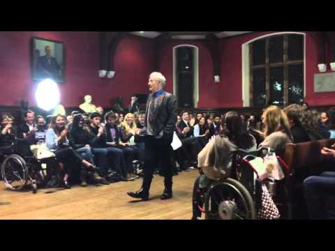 Ian McKellen Talking to Students at the Oxford Union