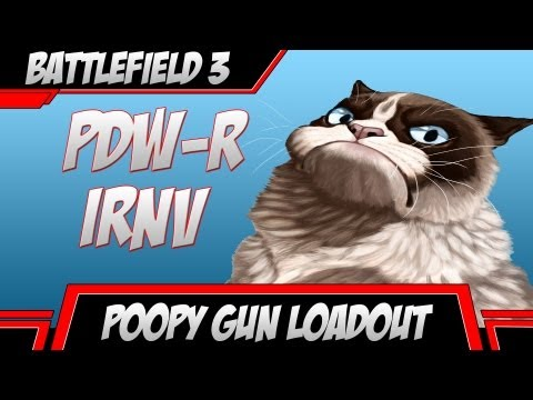Poopy Gun Loadout - PDW-R IRNV - Buttmad Victims ( Battlefield 3 Gameplay )