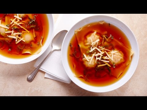 Butternut & Swiss Cheese Ravioli Soup | All You Need Is Cheese