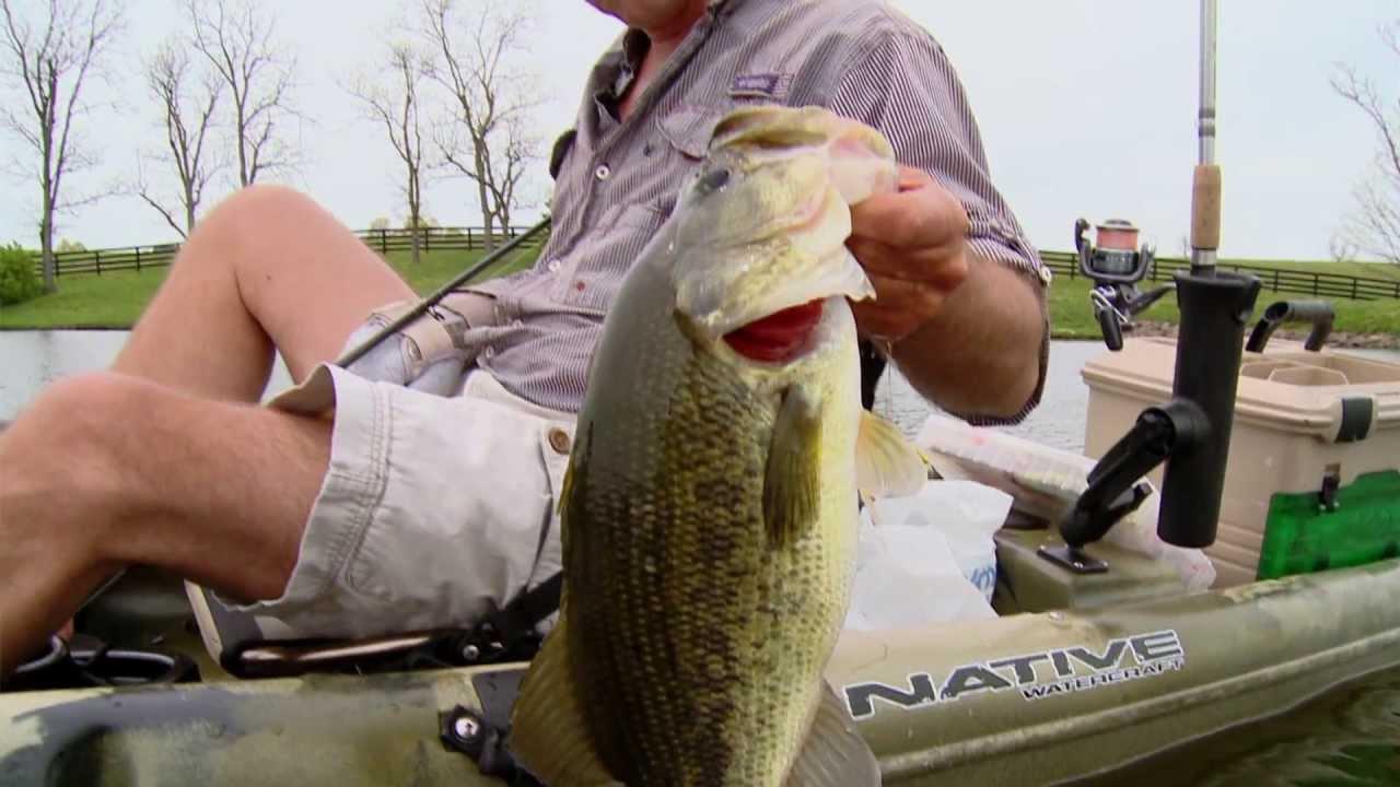 Big bass kayak fishing youtube for Bass fishing youtube