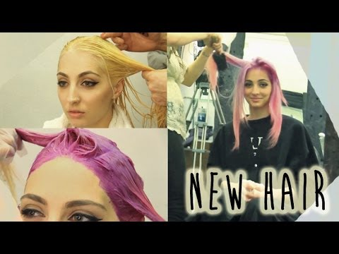 How To: Bleach & Color Hair Purple/Pink Ombre | Brittany Balyn