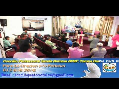 Culto Evangelistico Concilio Pentecostal Senda Antigua AMIP Tampa Bay.  04-10-2016