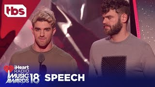 The Chainsmokers: 2018 iHeartRadio Music Awards | Acceptance Speech | TBS