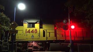 UP 1131 LRR45 Folsom Turn Local, Power Inn Station West Ped. Railroad Crossing, Sacramento CA