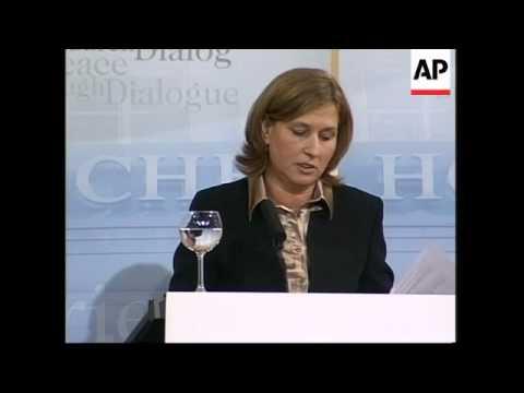 Israeli Foreign Minister Tzipi Livni on Iran, Hamas
