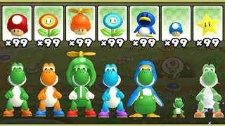 New Super Mario Bros. Wii - All Yoshi Power-Ups