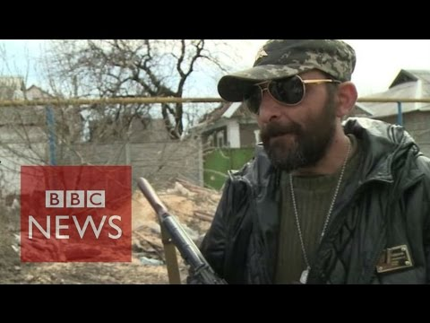 Ukraine: Riding with pro-Russian rebels - BBC News