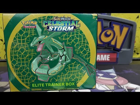 Opening A Celestial Storm Elite Trainer Box of Pokemon Cards!