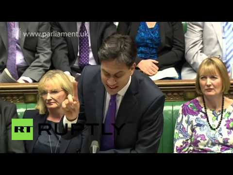 VideoID: 20141015-039  M/S Conservative front benchers SOT, Ed Miliband, Labour Party leader (English): \