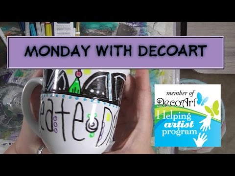 Monday With DecArt - Glass Paint Markers