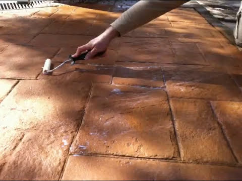 Restauración pavimentos estampados - hormigón impreso -Fakolith.wmv