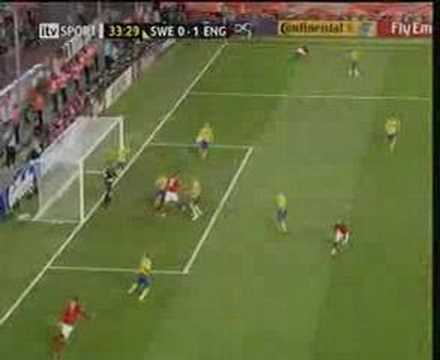 Joe Cole's Superb Volley England v Sweden World Cup 2-2