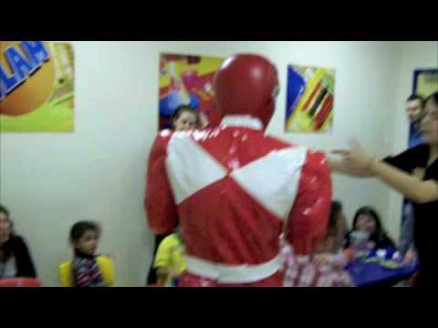 Kai's 4th Birthday Party Power Ranger visit