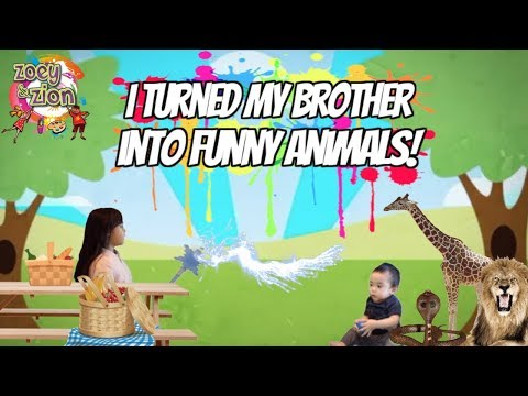 Zoey turned Zion into Funny Animals!