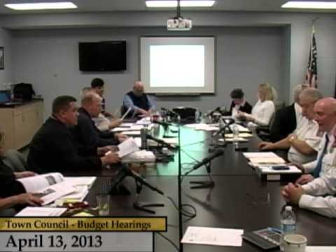 Enfield, CT, USA - Town Council - Budget Hearings FY13/14 - April 13, 2013, part 2