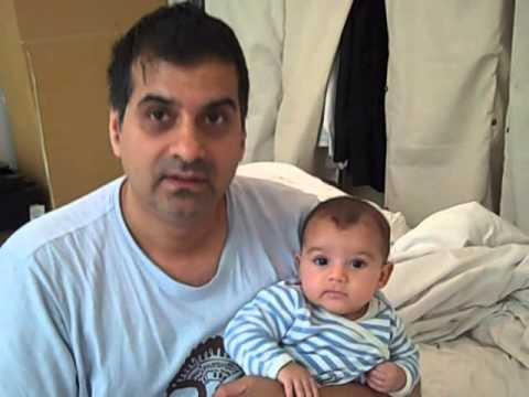 Indian Dad armenian Mom & 3 Month Old Son With French Name. Interracial Parents video