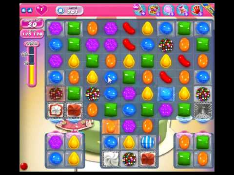 Candy Crush Saga Level 201 - 1 Star - no boosters