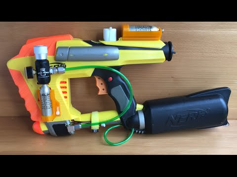 Fully Automatic CO2 Powered Nerf Magstrike!