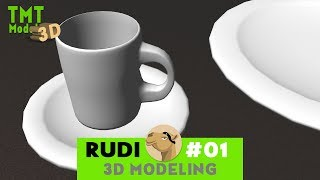 3D MODELING - for Planet Coaster - CUPS & PLATES