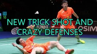 NEW CRAZY LUCKY BADMINTON TRICK SHOT! INCREDIBLE RALLIES