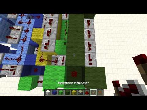 2x2 Car Piston Elevator (up & down) TUTORIAL - Minecraft Redstone
