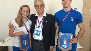 Baku 2015 - Il presidente Agabio incontra i ginnasti azzurri