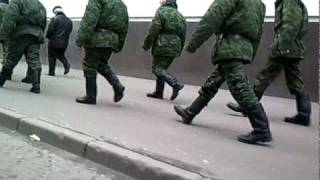 Русские солдаты в сапогах \ Russian soldiers in boots