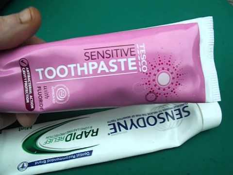 toothpaste for toothache review sensodyne vs tesco own brand fix pain