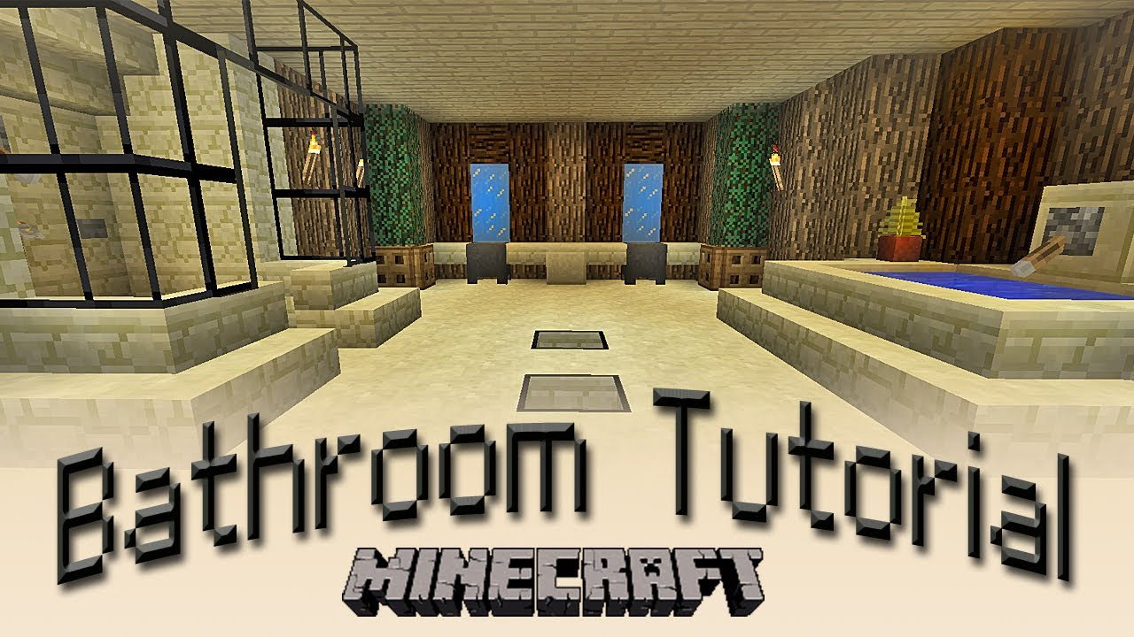 Minecraft how to make a bathroom tutorial youtube for Bathroom designs minecraft