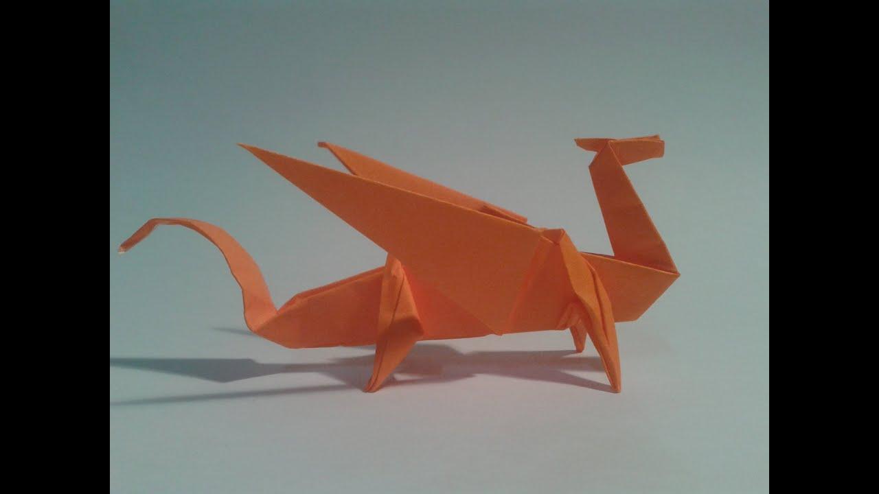 Como hacer un drag n de papel origami youtube - Como hacer jarrones de papel ...