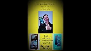 présentation ttest est démo du smartphone honor 8X
