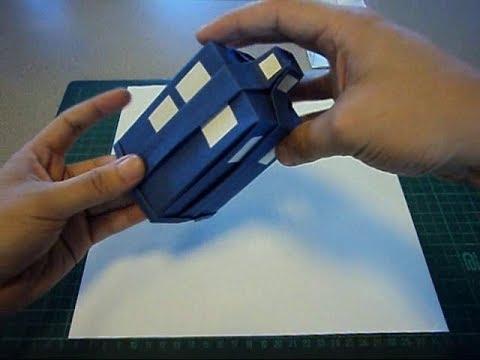 Origami TARDIS  YouTube