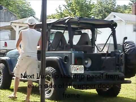Jeep Wrangler Tj Soft Top Removal Youtube