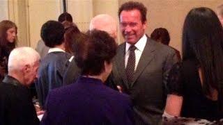Arnold Schwarzenegger at Joe Weider