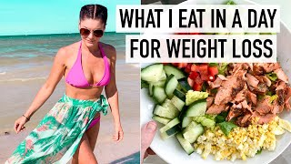 FULL DAY OF EATING FOR WEIGHT LOSS | Realistic & EASY Meal Ideas (carb-cycling)