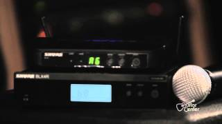 The SHURE BLX Wireless System at Guitar Center