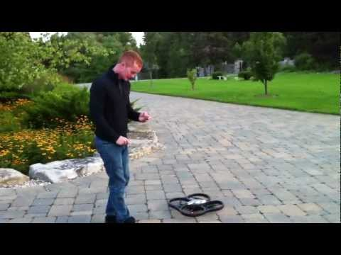 Mark Freeman 408 Tests the AR Drone for future aerial ATV vid shots at the track