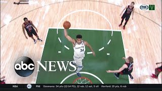 NBA superstar makes history with Milwaukee Bucks l ABC News