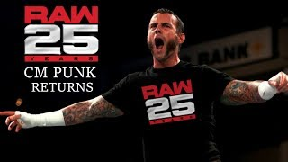 CM Punk Returns To WWE For One Night Only Jan. 22 2018   Edited