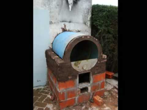 Horno de barro y tambor youtube for Como construir una pileta de agua