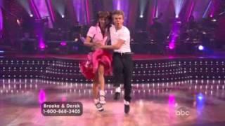 Brooke Burke & Derek Hough dancing the Jitterbug