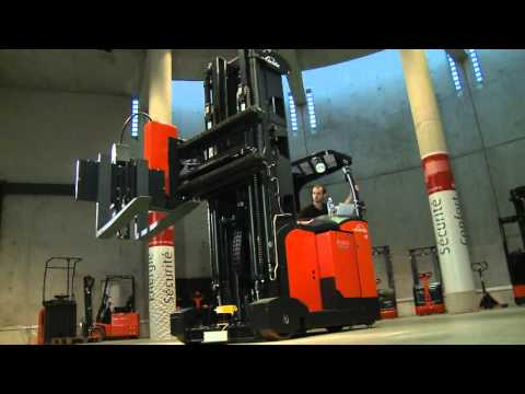 Linde Man-Down Turret Truck