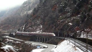 Gotthard railway, Switzerland. Winter 2016