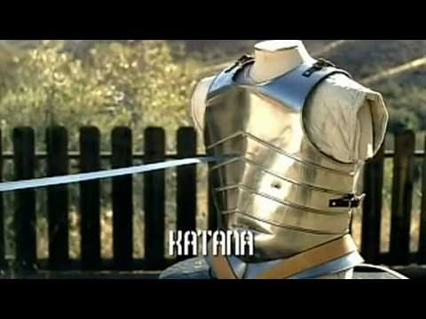 Japanese Katana Vs European Longsword - Samurai Sword Vs Knight Broadsword video