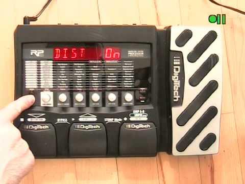 Digitech RP355 Multi Effects Pedal Instructional
