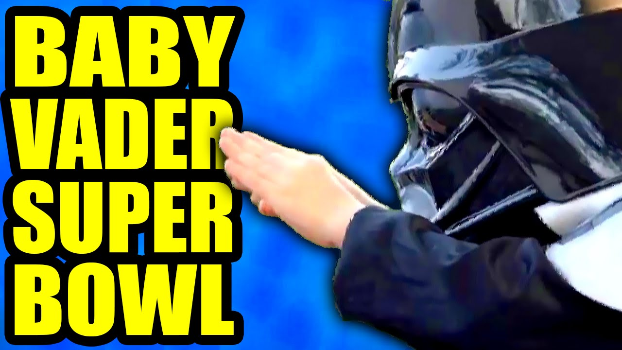 "BABY VADER SUPER BOWL <a href=""https://www.youtube.com/watch?v=EDrwpY4HuUc"" class=""linkify"" target=""_blank"">https://www.youtube.com/watch?v=EDrwpY4HuUc</a> #Tobuscus #DarthVader #SuperBowl #SuperBowl2015"