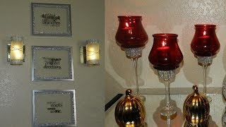 DIY Elegant Home Decor with Dollar Tree Items| DIY Wall Home Decor Idea| DIY Elegant Candle holders