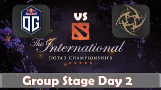 OG vs NiP | The International 2019 | Dota 2 TI9 LIVE | Group Stage Day 2