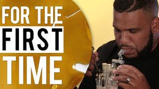 Comedians Smoke Dabs 'For the First Time' ft. Slink Johnson, Kanisha Buss, & DoBoy
